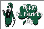 Happy St Patrick's Day (white) Large Flag - 5' x 3'.